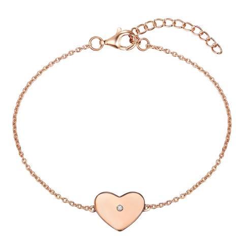 Carat 1934 Rose Gold Heart Bracelet