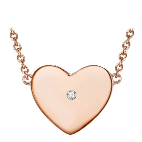 Tess Diamonds Rose Gold Heart Necklace