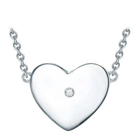 Tess Diamonds Sterling Silver Heart Necklace