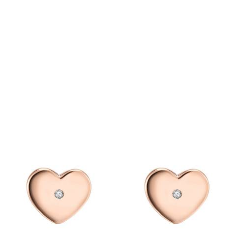 Tess Diamonds Heart Rose Gold Earrings