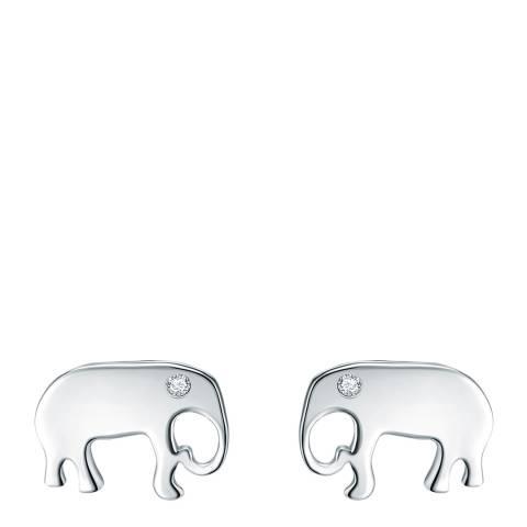 Carat 1934 Elephant Silver Earrings