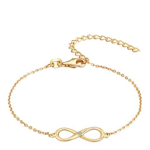 Carat 1934 Infinity Yellow Gold Bracelet