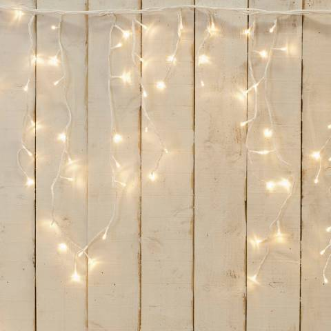 Festive Warm White 360 LED Snowing Icicle Lights 18.8m