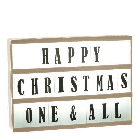 Festive White/Black DIY Lightbox 30X22X5cm