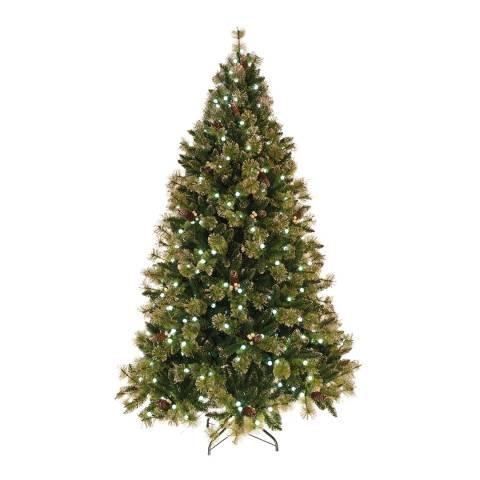 Festive Green Pre Lit Snowball Pine Tree 120cm