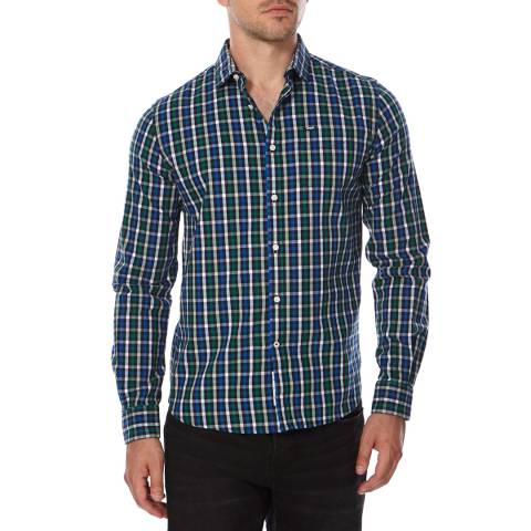 Superdry Green Check Cotton Tailored Oxford Shirt
