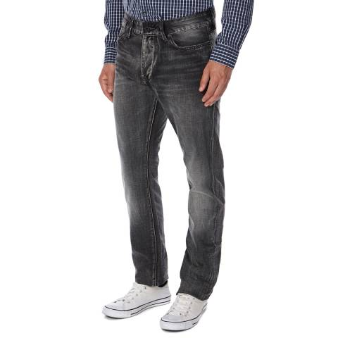 Superdry Destroyed Grey Cotton Slim Fit Biker Jeans