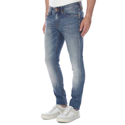 Superdry Blue Denim Stretch Antique Skinny Fit Jeans