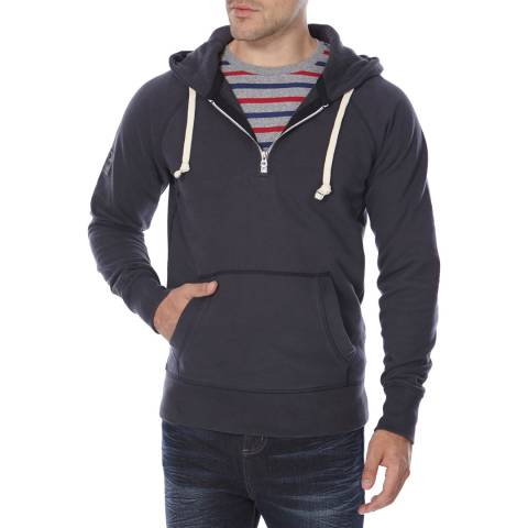 Superdry Navy Cotton Surplus Half Zip Jumper