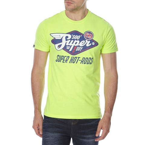 Superdry Yellow Cotton Blend Reworked Classic T Shirt