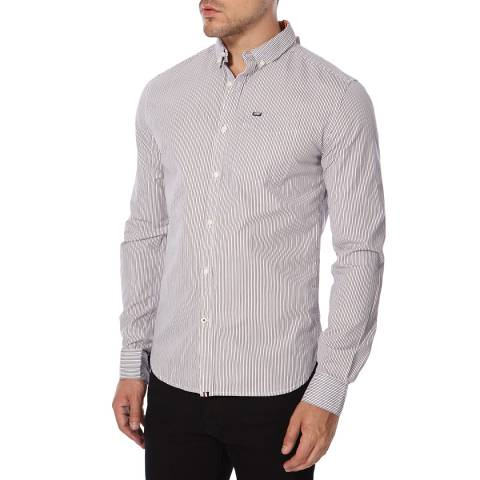 Superdry Twin Chalk Cotton Stripe Port  London Shirt