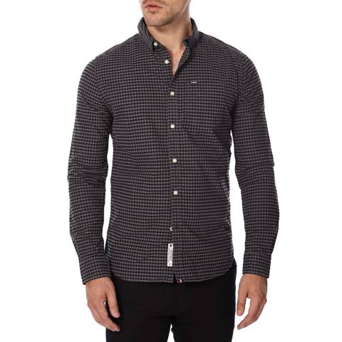 Superdry Grey Cotton Ultimate Oxford  Shirt