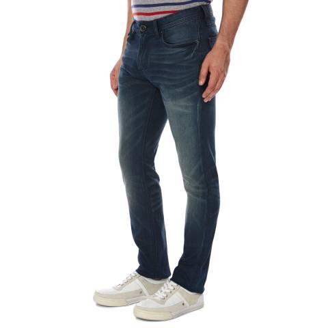 Superdry Deep Royal Blue Denim Slim Fit Corporal Jeans