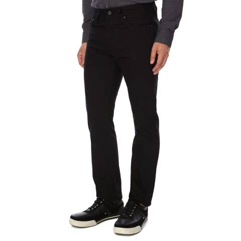 Superdry Black Cotton Straight Fit Officer Jeans