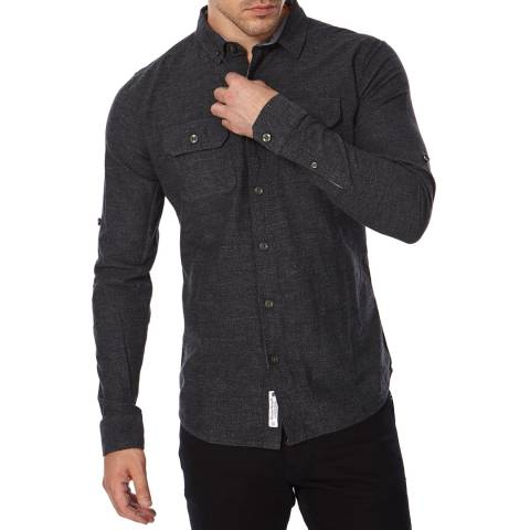 Superdry Grey Cotton Grindlesawn Shirt