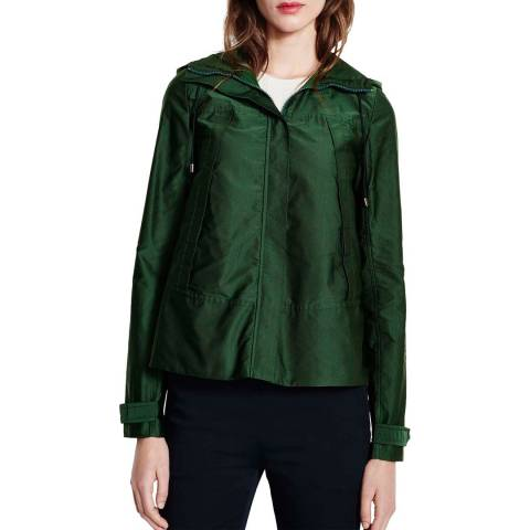 Lands End Dark Green Swing Parka