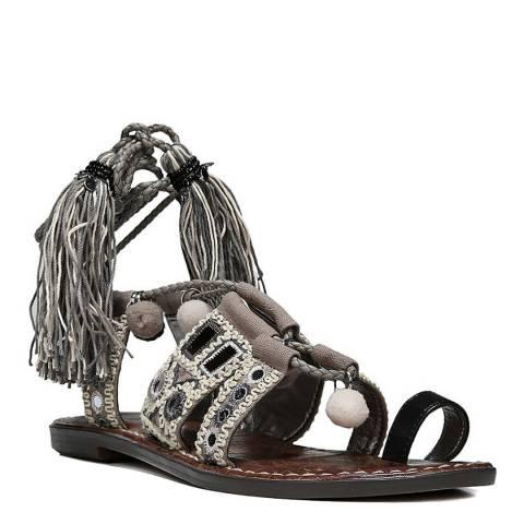 Sam Edelman Black/Putty Gretchen Leather Blend Sandals