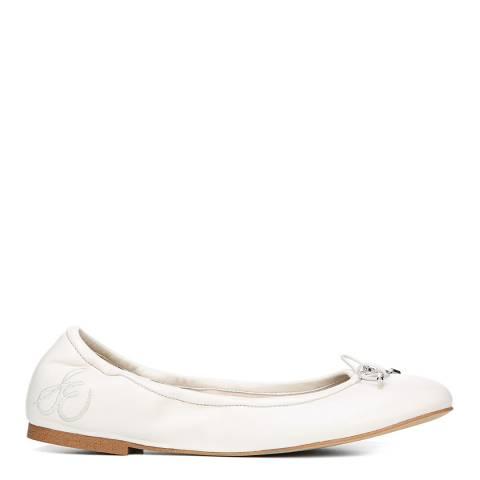 Sam Edelman Bright White Leather Blend Felicia Ballet Flat