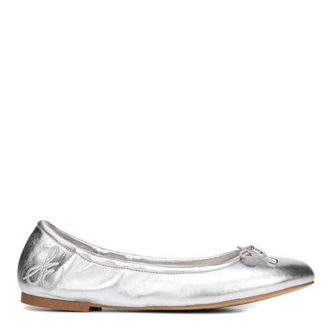 Sam Edelman Soft Silver Leather Felicia Ballet Flats