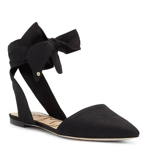 Sam Edelman Black Silk Brandie flat shoes