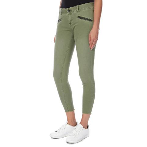 Superdry Khaki Leila Super Skinny Cropped Jeans