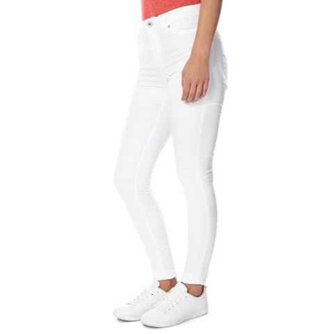 Superdry Optic White Sophia High Waist Super Skinny Denim Jeans
