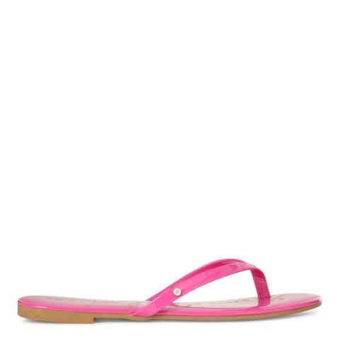 Sam Edelman Hot Pink Vegan Leather Oliver Flip Flops