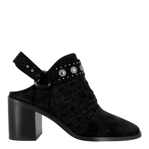 Senso Ebony Leather Blend Hanna Silver Stud Boots