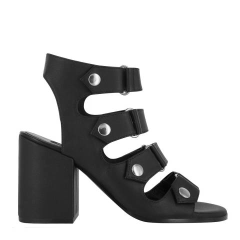 Senso Ebony Leather Blend Stella High Heel Sandal