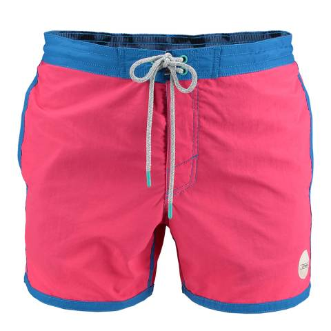 O'Neill Men's Pink/Blue Frame Shorts