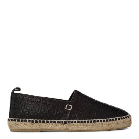 Loewe Women's Black Leather Blend Espadrilles