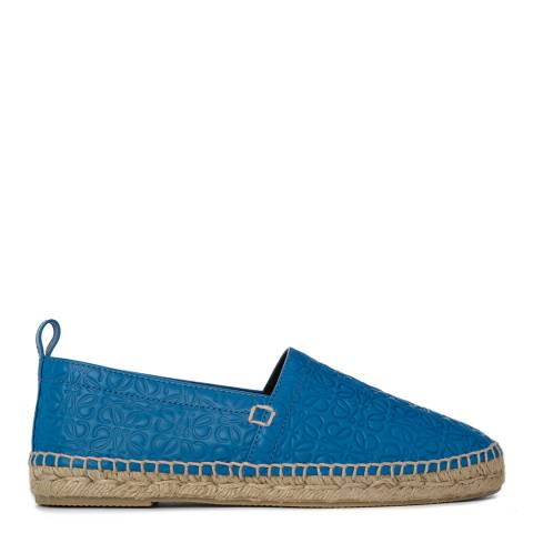 Loewe Women's Blue Leather Blend Espadrilles