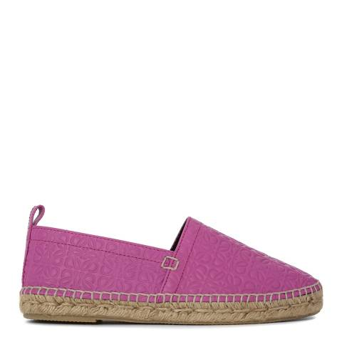 Loewe Women's Pink Leather Blend Espadrilles