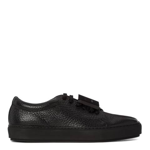 ACNE Women's Black Leather Smile Lace Up Trainers