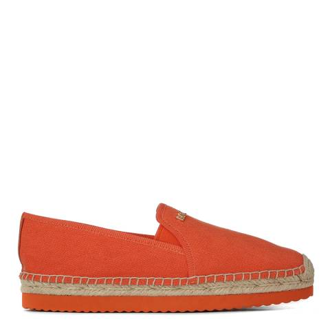 Michael Kors Women's Orange Canvas Espadrilles