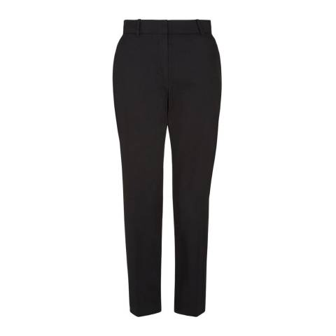 Hobbs London Black Cotton Stretch Ava Trousers