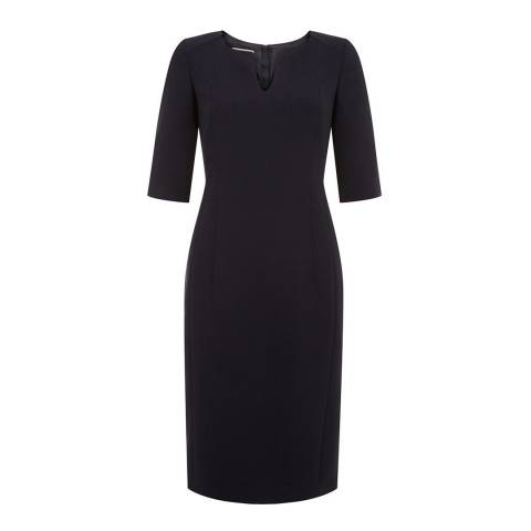 Hobbs London Navy Eimear Dress