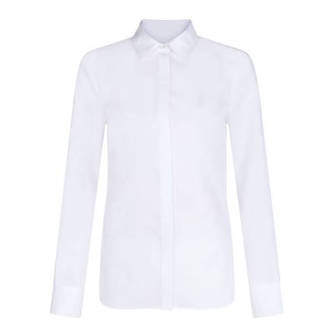 Hobbs London White Cotton Maddie Shirt