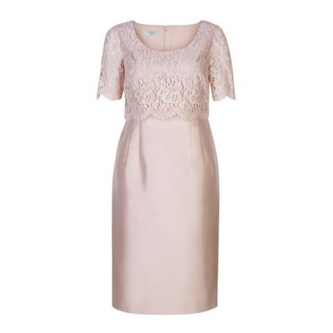 Hobbs London Pink Silk/Wool Blend Livia Dress