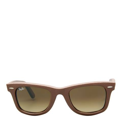 Ray-Ban Unisex Leather Brown Original Wayferer 50mm