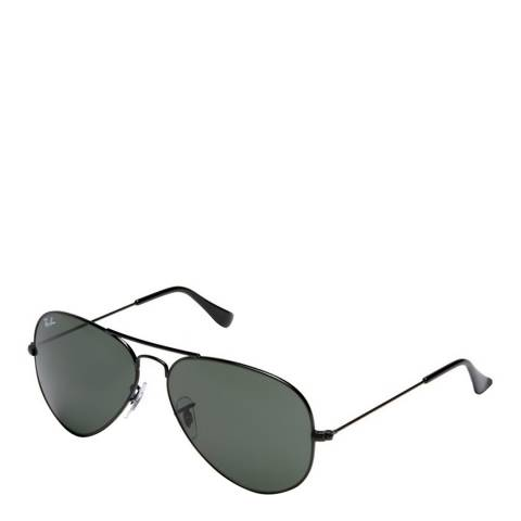 Ray-Ban Unisex Saturated Black Aviator Sunglasses 58mm