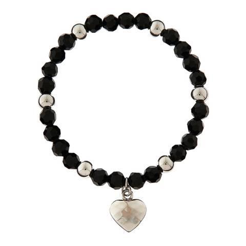 Chloe Collection by Liv Oliver Black/Silver Gem Bracelet