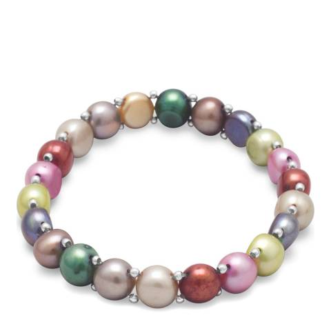 Alexa by Liv Oliver Multi Coloured Pearl Bracelet
