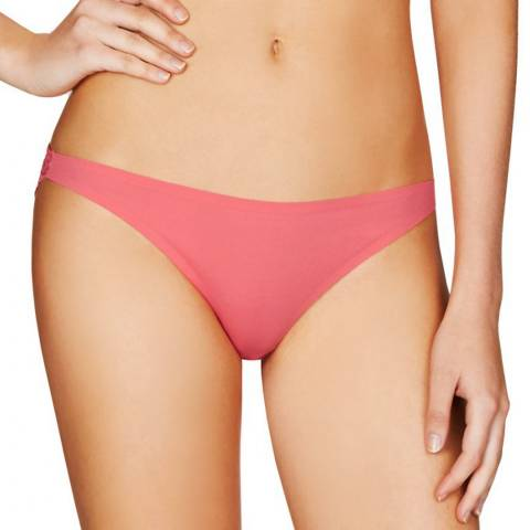 Stella McCartney Lingerie Coral Stella Smooth & Lace Bikini Briefs