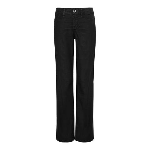 NYDJ Black Wylie Linen Blend Trousers