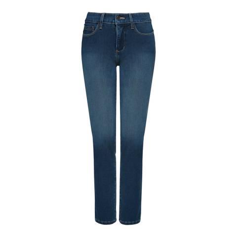 NYDJ Indigo Wash Clarissa Ankle Grazer Cotton Stretch Jeans