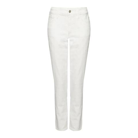 NYDJ White Nichelle Ankle Grazer Cotton Stretch Jeans
