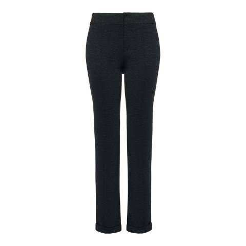 NYDJ Charcoal Denise Slim Cuffed Ankle Grazer Trousers
