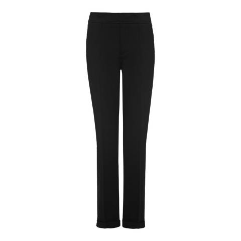 NYDJ Black Denise Slim Cuffed Ankle Grazer Trousers