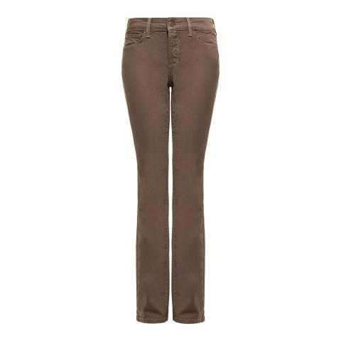 NYDJ Brown Samantha Slim Cotton Stretch Jeans
